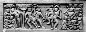 Karmawibhangga Relief di Candi Borobudur